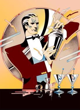 Bartender Preparing Cocktails by David Chestnutt