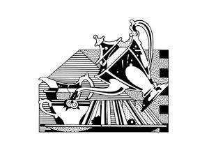 Close Up of Vintage Tea Set by David Chestnutt