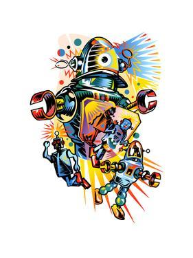Colorful Robots by David Chestnutt