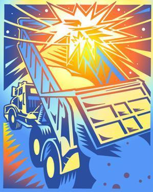 Dump Truck Accident by David Chestnutt
