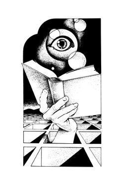 Eye Above Book by David Chestnutt