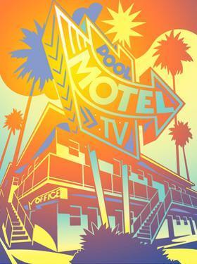 Facade of Motel by David Chestnutt