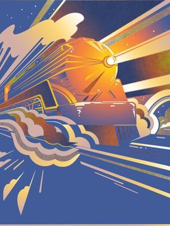 Fast Art Deco Steam Moving at Speed by David Chestnutt