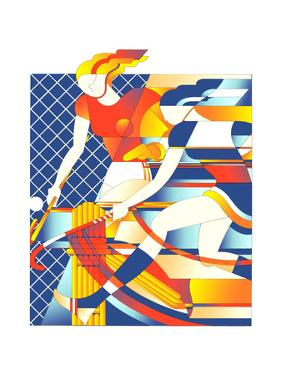 Female Field Hokey Players by David Chestnutt