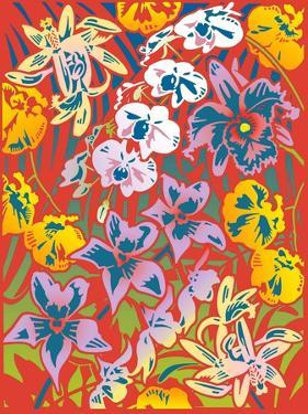 Full Frame of Flowers by David Chestnutt