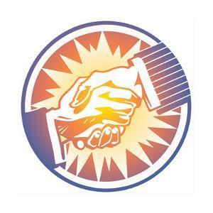 Handshake in Circle by David Chestnutt