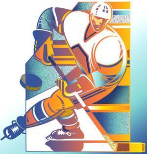 Ice Hockey Player by David Chestnutt