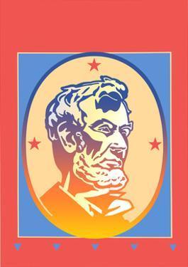 Illustration of Abraham Lincoln by David Chestnutt