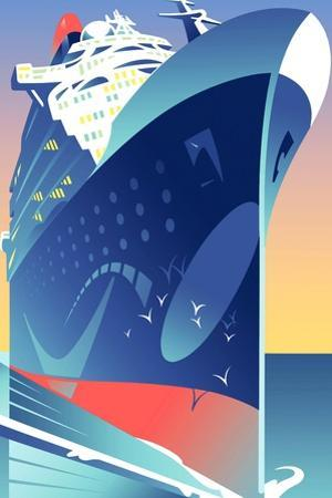 Illustration of Cruise Ship by David Chestnutt