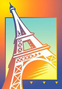 Illustration of Eiffel Tower by David Chestnutt