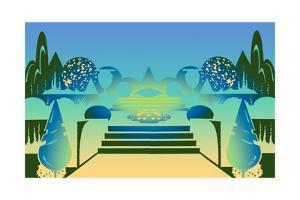 Illustration of Ornamental Garden by David Chestnutt