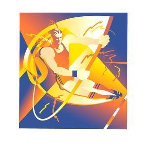 Illustration of Pole Jumper by David Chestnutt