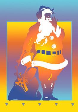 Illustration of Santa Claus by David Chestnutt
