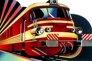 Illustration of Train by David Chestnutt