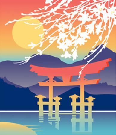 Itsukushima Shrine, Hatsukaichi, Japan by David Chestnutt