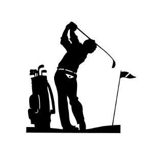 Man Playing Golf by David Chestnutt