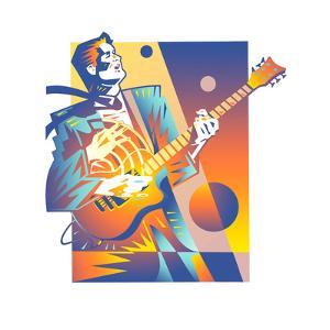 Man Playing Guitar by David Chestnutt