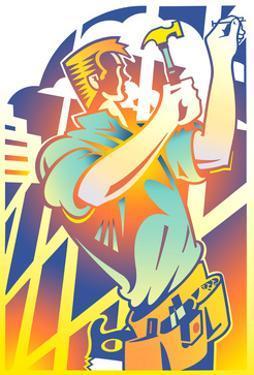 Man with Hammer by David Chestnutt