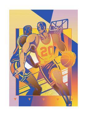 Men Playing Basketball by David Chestnutt