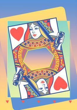 Queen of Hearts Card by David Chestnutt