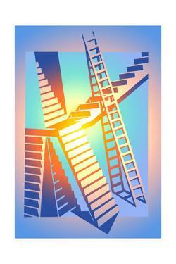 Steps and Ladder by David Chestnutt