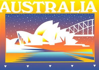 Sydney Opera House at Night by David Chestnutt