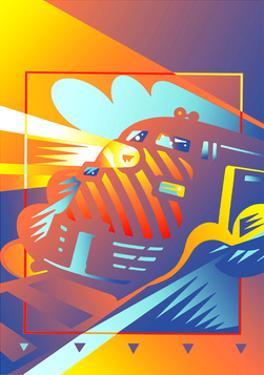 Train on Railroad Track by David Chestnutt