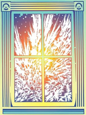Window with Frost by David Chestnutt
