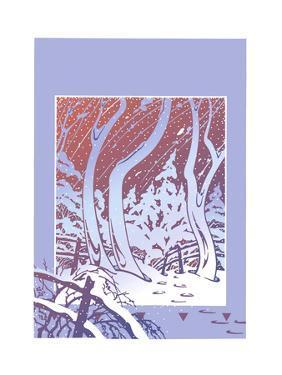Winter Landscape in Blue by David Chestnutt