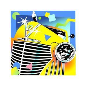 Yellow Vintage Car by David Chestnutt
