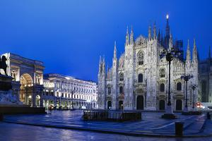 The City of Milan, the Huge Duomo Cathedral and the Centre of the City by David Churchill
