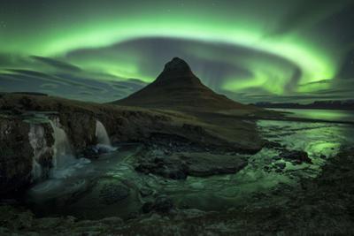 Aurora over Kirkjufell, Iceland by David Clapp