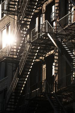 Fire Escapes, 17Th Street, New York City by David Clapp