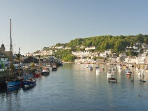 Morning Light on the River Looe at Looe in Cornwall, England, United Kingdom, Europe by David Clapp