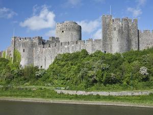 Pembroke Castle in Pembroke, Pembrokeshire, Wales, United Kingdom, Europe by David Clapp