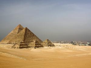 Pyramids at Giza, Egypt by David Clapp