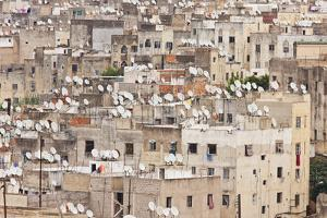 Satellite Dishes, Fes, Morocco, North Africa by David Clapp