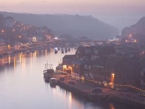 Sea Fog Builds over the Town of Looe, Cornwall, England, United Kingdom, Europe by David Clapp