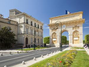 The Arc De Triomphe, Rue Foch, Montpellier, Languedoc-Roussillon, France, Europe by David Clapp