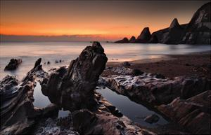 Westcombe Bay, Devon by David Clapp