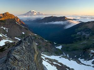 View of Mt. Adams from the Goat Rocks Wilderness, Washington, USA by David Cobb