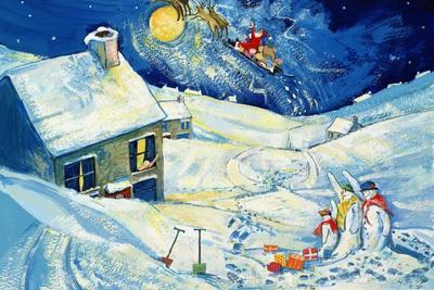 Snowmen Waving to Santa, 1995