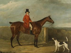 John Hall Kent in Hunting Attire Seated on a Horse, 1825 by David Dalby