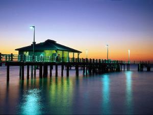 Fishing Pier at Sunrise, Fort de Soto Park, FL by David Davis