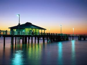 Fishing Pier at Sunrise, Fort de Soto Park, FL by David Davis