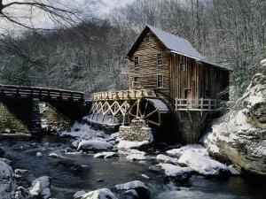 Grist Mill and Glade Creek, Badcock State Park, WV by David Davis