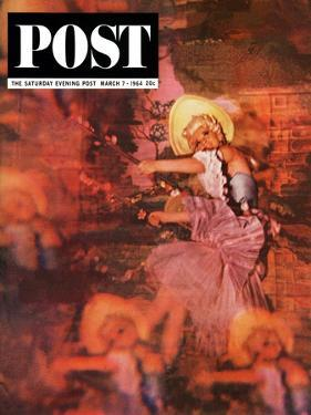 """Lido Chorus Girl,"" Saturday Evening Post Cover, March 7, 1964 by David Douglas Duncan"