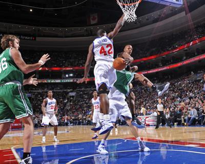 Boston Celtics v Philadelphia 76ers: Ray Allen, Semih Erden and Elton Brand by David Dow