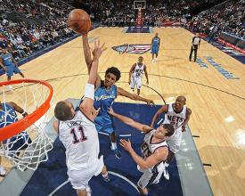 Washington Wizards v New Jersey Nets  Nick Young and Brook Lopez by David  Dow 60b325baf