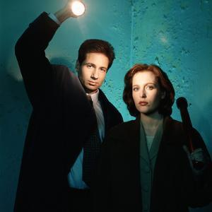 "DAVID DUCHOVNY; GILLIAN ANDERSON. ""THE X FILES"" [1993], directed by CHRIS CARTER, ROB BOWMAN, DA..."